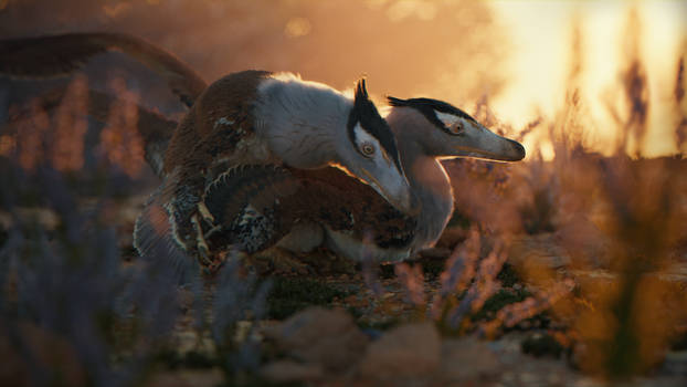 Velociraptors mating