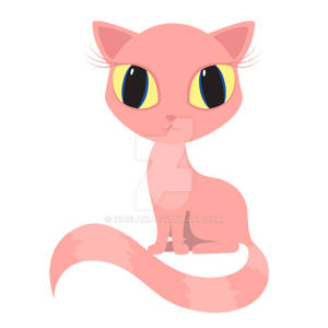 Pink cat striped tail