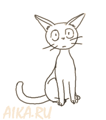 Jiji cat from kiki 39 s delivery service by iruslan on deviantart for Kiki s delivery service coloring pages
