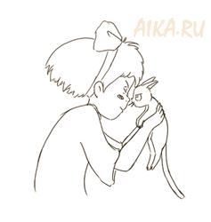 Kiki and Jiji from Kiki's delivery service by iruslan