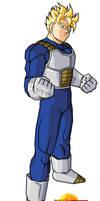 Future Gohan in saiyan armor by supagokuman