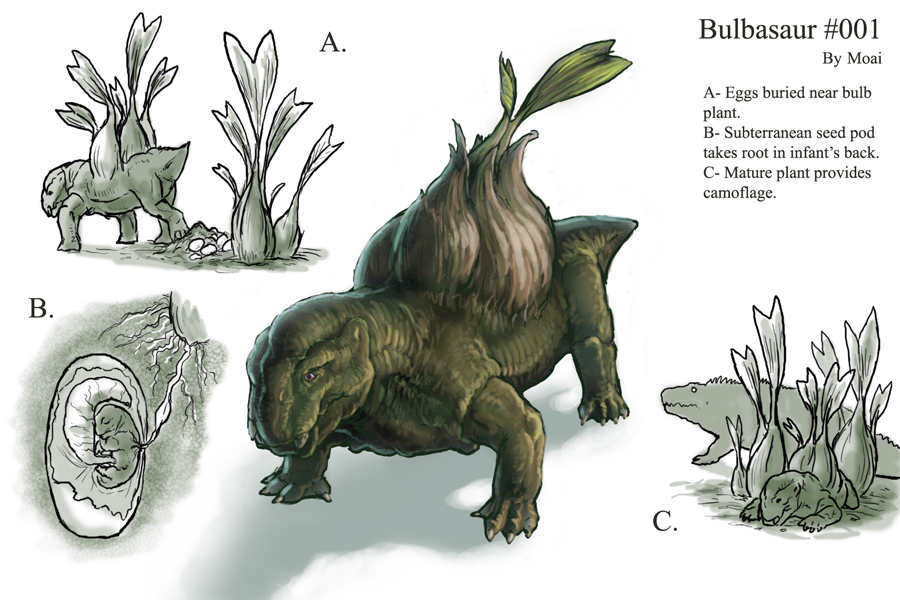 Biología Pokémon (Un poco friki, pero vale la pena el intento :)) - Página 2 Bulbasaur_redesign_by_M0AI