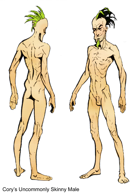 how to draw naked males