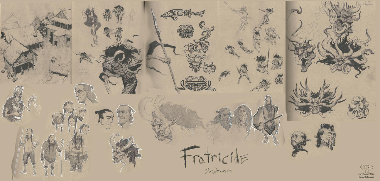 Fratricide Sketches by M0AI