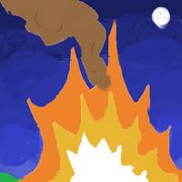 Fire on a Moonlit Night by DarthCreeper