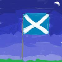 Scottish Flag by DarthCreeper