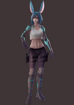 FFXIV - Cyberpunk (OC Commission)