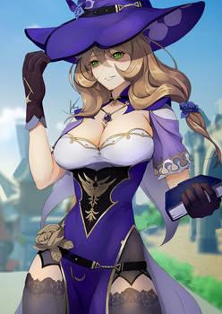 Ara Ara! Lisa From Genshin Impact