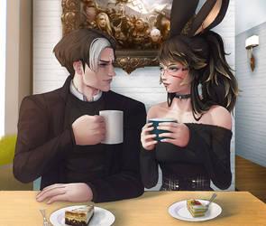 FFXIV - Coffee Time (OC Commission)