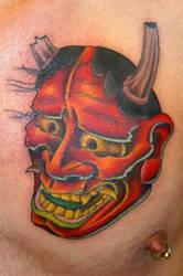 japanese demon kabuki style by davetedder