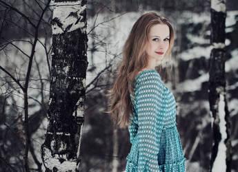 birch forest by baravavrova
