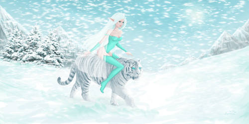 Winter elvian princess