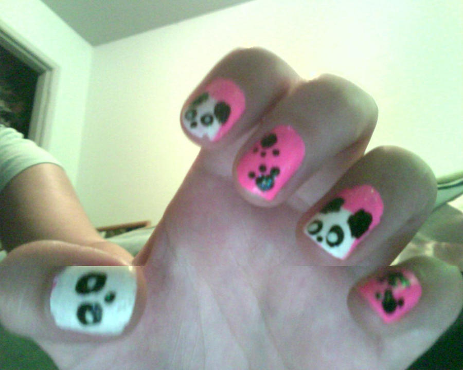 Panda nail art by geeky penguin on deviantart panda nail art by geeky penguin prinsesfo Image collections