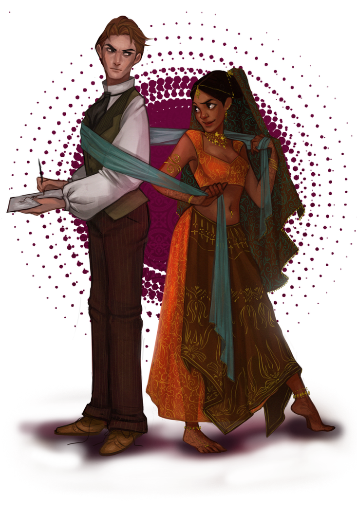 Commission: an Artist and a Princess by Maaronn