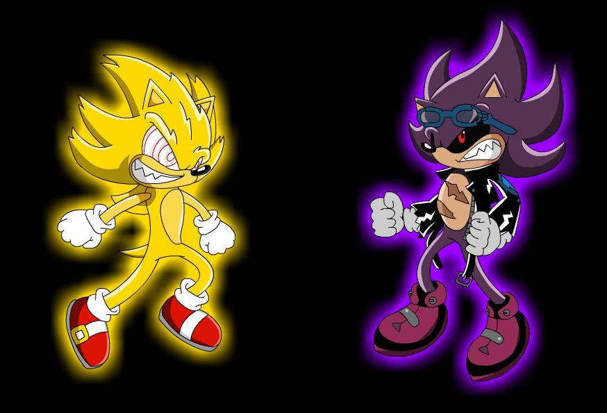 Evil Super Sonic Vs Scourge By Metalbru01 On Deviantart