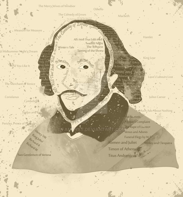 Typographic William Shakespeare Vintage by fAmEnXt