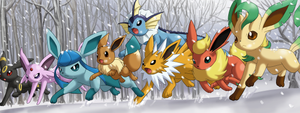Eeveelutions by nintendofreak97