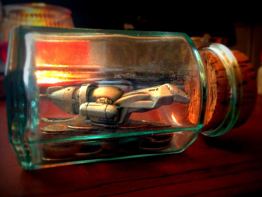 Firefly in a Jar / Ship in a Bottle by Metzae