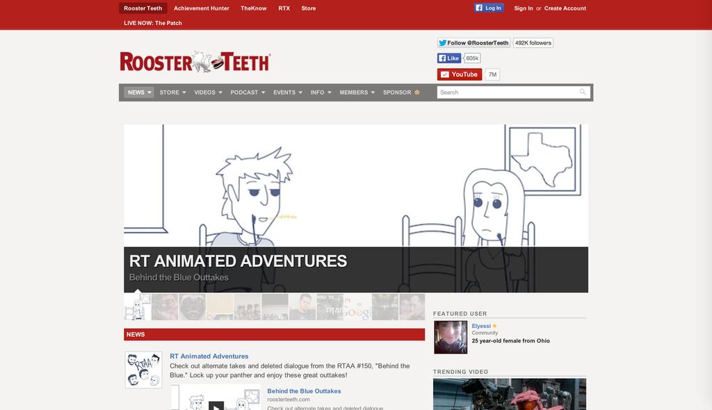 roosterteeth com personal redesign by mattpc on deviantart