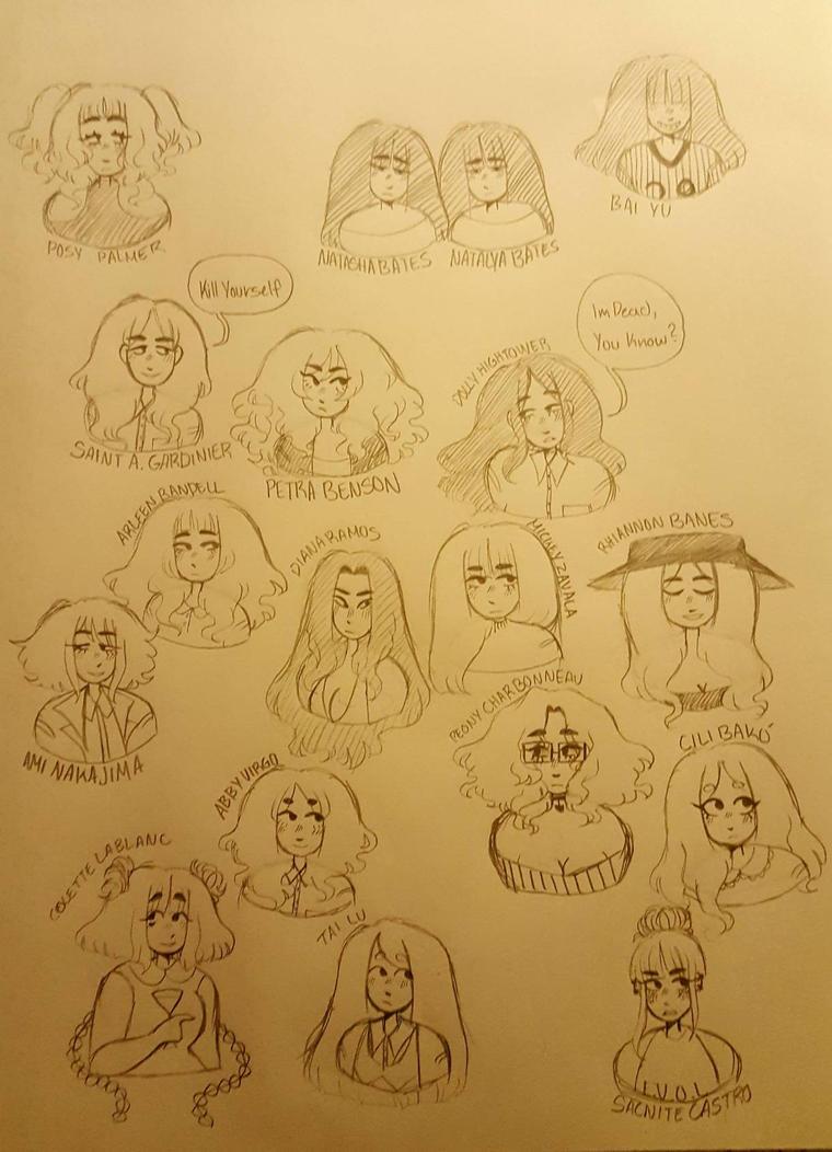 some gals by angelvomit666