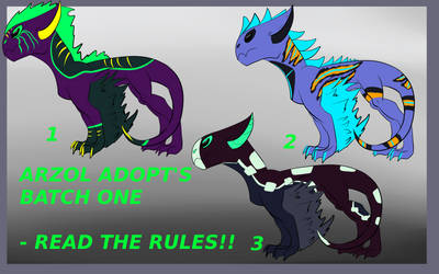 ARZOL ADOPT BATCH ONE - OPEN!! by Dracko-Adopts