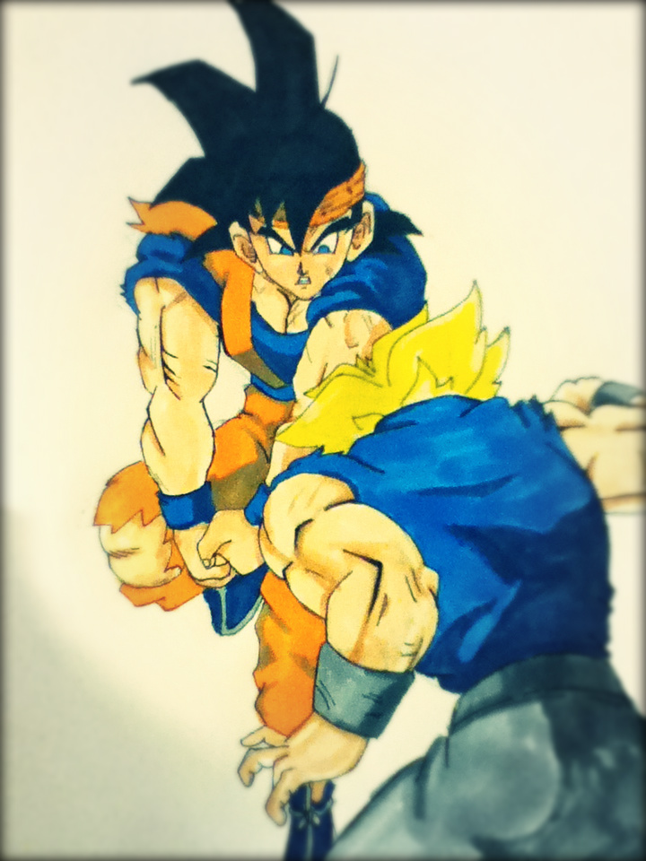 Goten vs Trunks by varuik