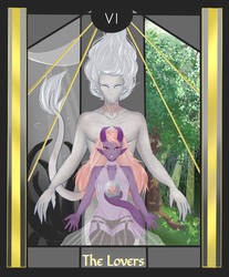 The Lovers Card, Upright