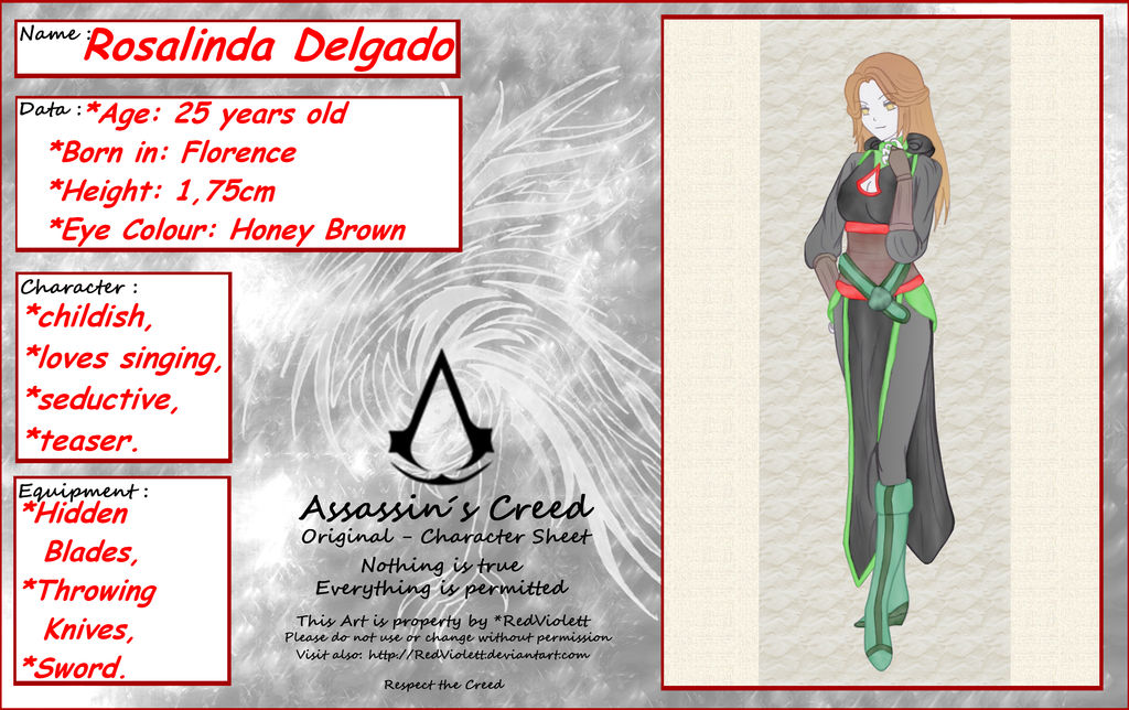 Assassin S Creed Oc Rosalinda Delgado By Roxyrocz On Deviantart