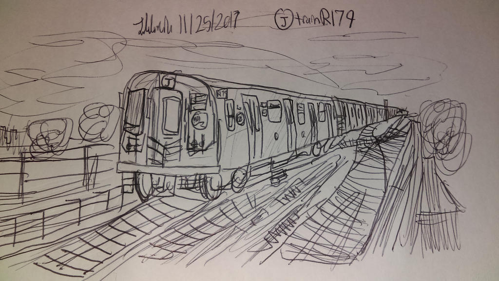 Line Drawing Nyc : Nyc subway j train r 179 by johng15 on deviantart