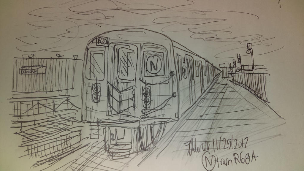 Line Drawing Nyc : Nyc subway n train r68a by johng15 on deviantart
