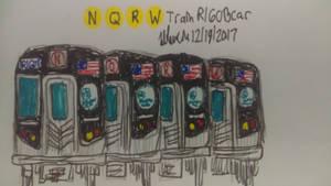 Nyc Subway N Q R W train R160B car