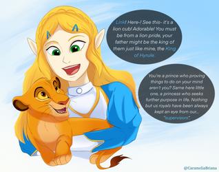 Simba and Zelda by CarameliaBriana