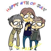 Happy 4th (again) by Wibsies