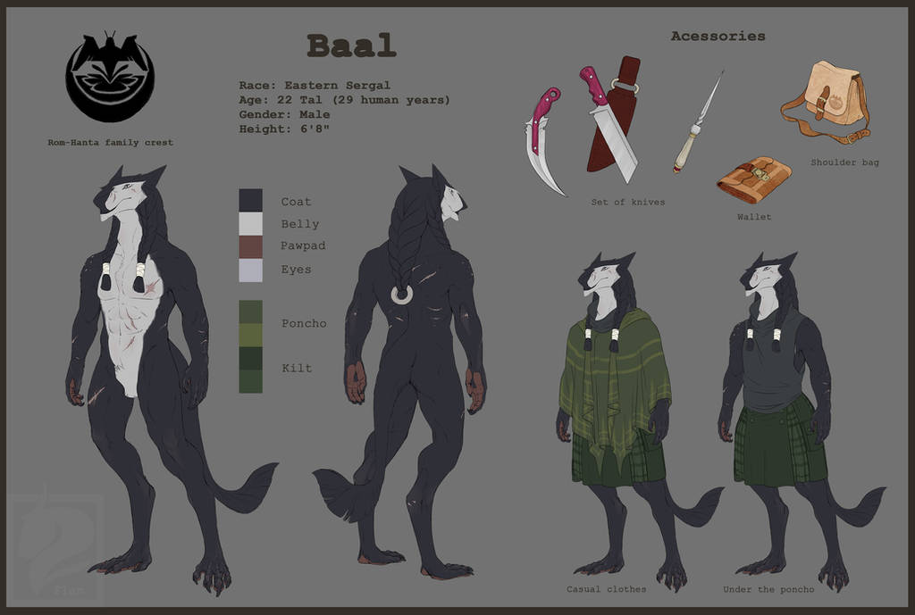 Baal Reference Sheet by FlamSlade