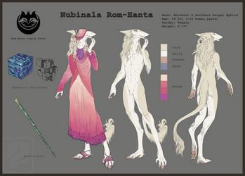 Nubinala reference sheet by FlamSlade
