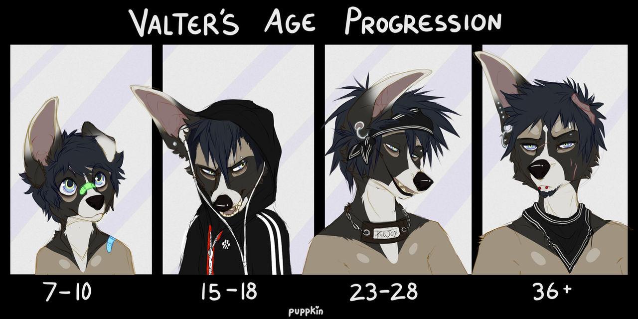 Valter Age Progression