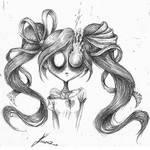 Ghost girl (version of @bananacatlah character)