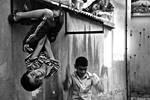 Bat and Window Girl by serhatbayram