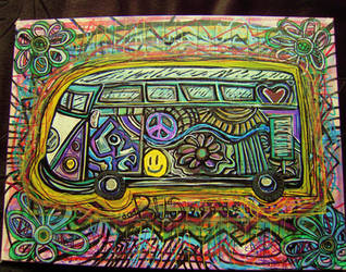 VW Groovy Bus by margypargie