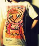 Unique Hand Painted Space Owl Shirt