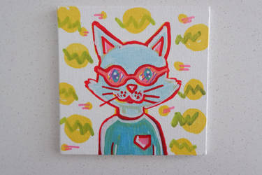 nerdy cat