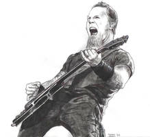 James Hetfield - Metallica by Menco