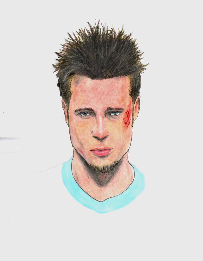 Brad Pitt Tyler Durden By Menco On Deviantart