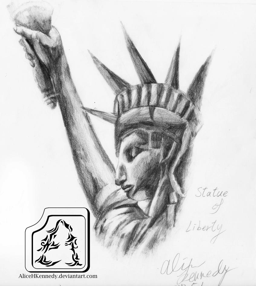 Statue of Liberty by AliceHKennedy on DeviantArt Statue Of Liberty Drawing Face