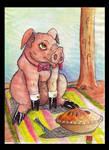 Pig  pie by deinoscaos