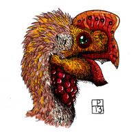 Oviraptor color by deinoscaos