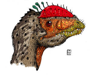 Dilophosaurus feathered color by deinoscaos