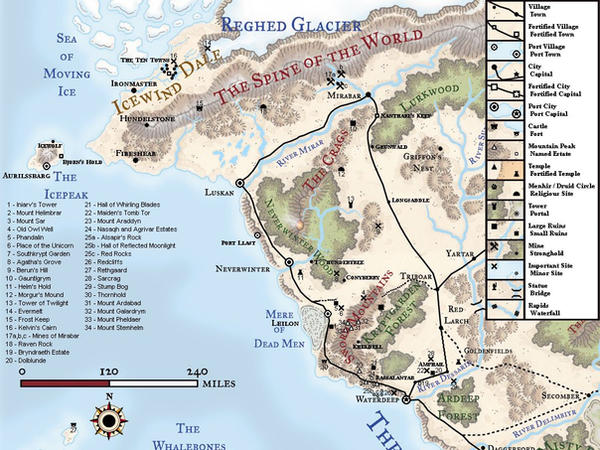 Sword Coast North Map: canon by allmynicksweretaken on