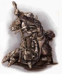 Fighting Orc by KonradV