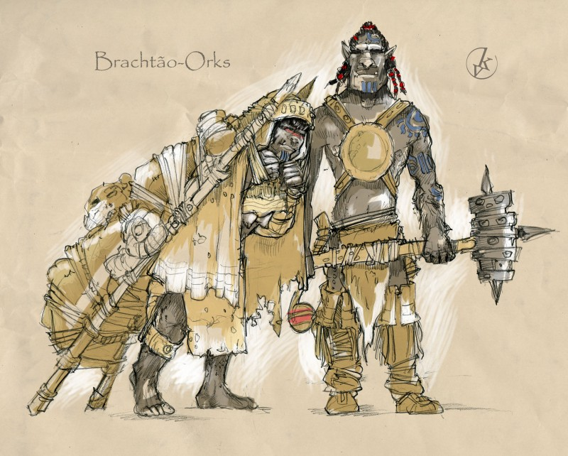 Orcs family by KonradV